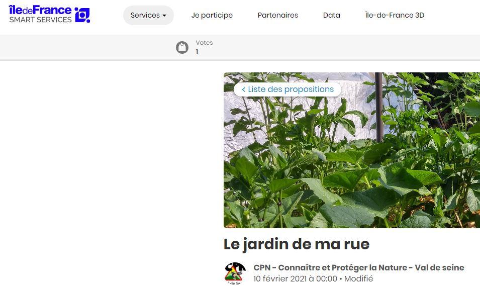 Jardin partagé sur ETAMPES – VOTEZ POUR NOUS!